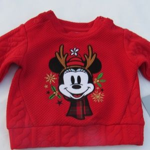 Disney Store Minnie Mouse Holiday Reindeer Sweater
